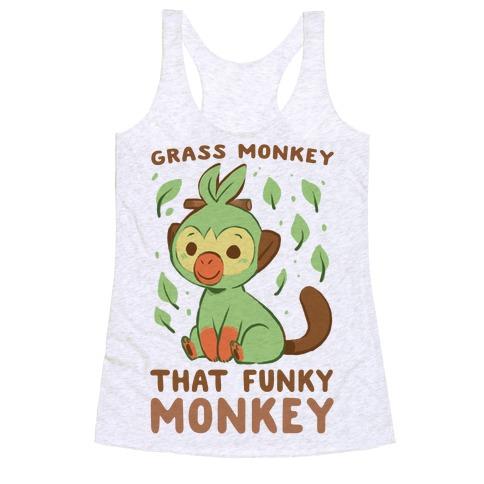 Grass Monkey, That Funky Monkey - Grookey Racerback Tank Top