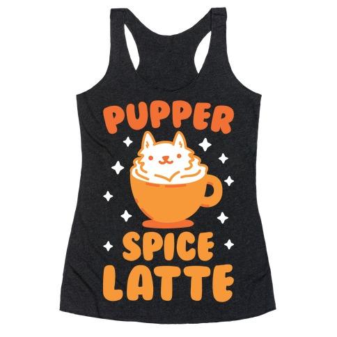 Pupper Spice Latte Racerback Tank Top