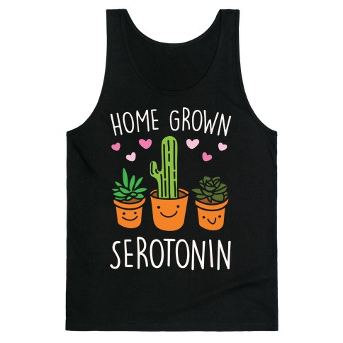 Home Grown Serotonin White Print Tank Top