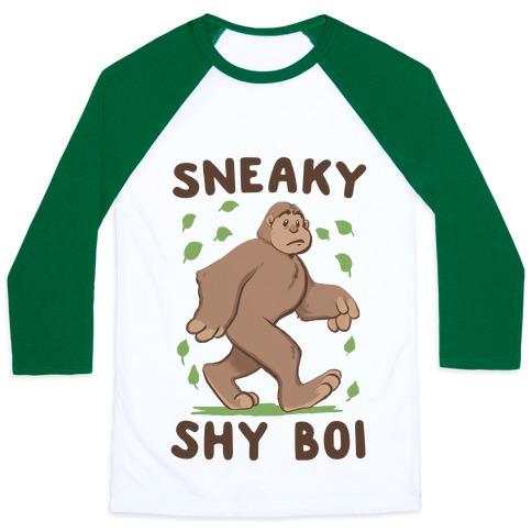 Sneaky Shy Boi Baseball Tee