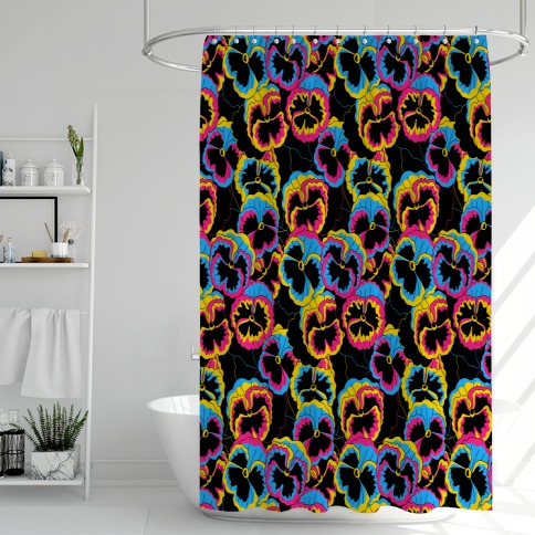 Pan-sy (Pansexual Pansies) Shower Curtain