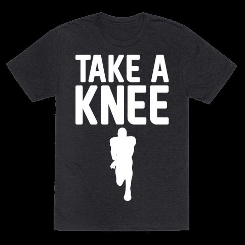 Take A Knee White Print