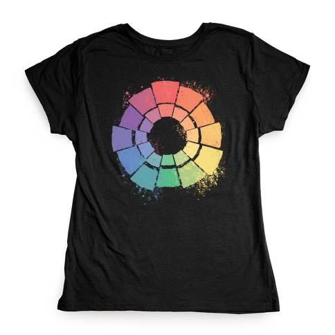 Gay Pride Color Wheel Womens T-Shirt