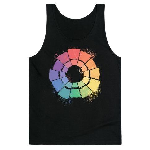 Gay Pride Color Wheel Tank Top