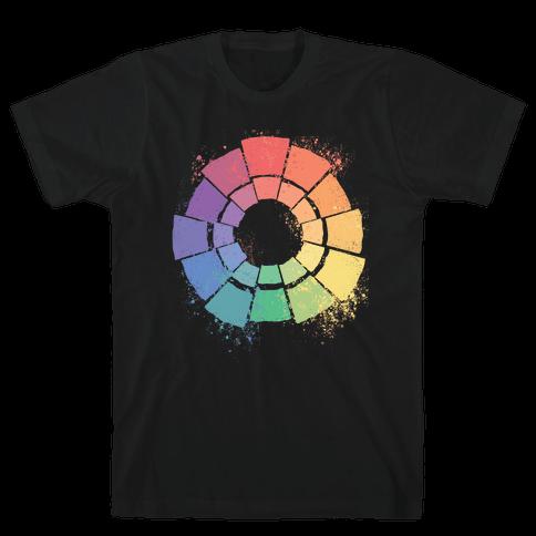 Gay Pride Color Wheel Mens/Unisex T-Shirt