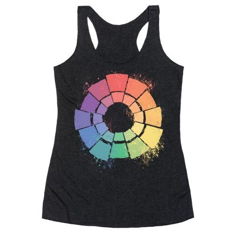 Gay Pride Color Wheel Racerback Tank Top