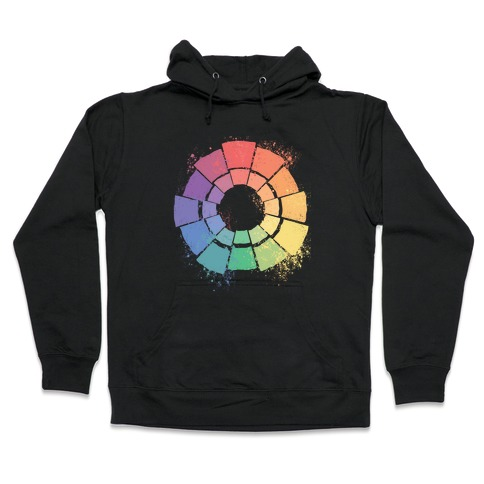 Gay Pride Color Wheel Hooded Sweatshirt