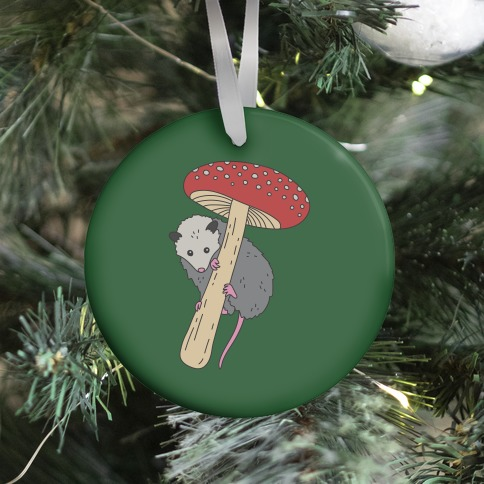Opossum Mushroom Ornament