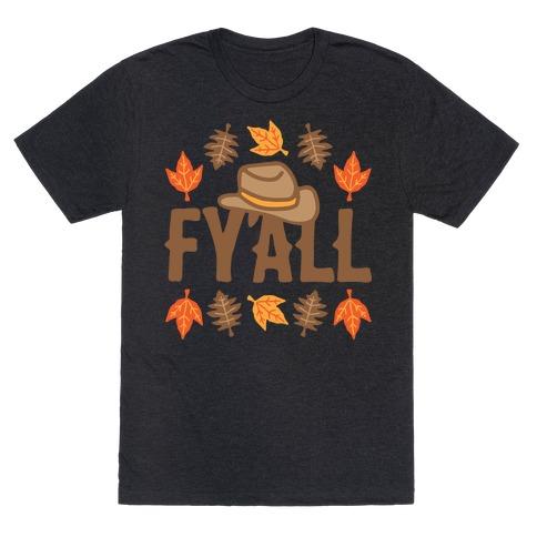 F'yall White Print T-Shirt