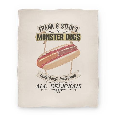 Frank & Stein's Monster Dogs Blanket
