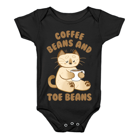 Coffee Beans and Toe Beans Baby Onesy