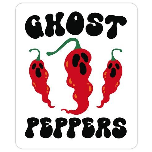 Ghost Peppers Die Cut Sticker