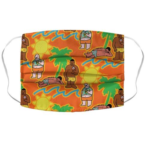 Beach Dad Pattern Accordion Face Mask