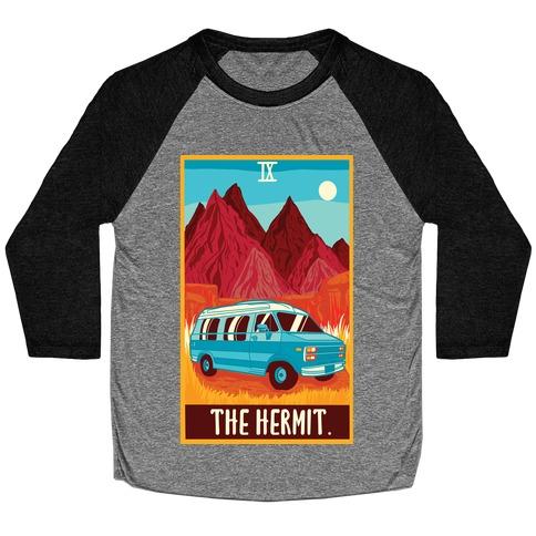 The Hermit Van Life Tarot Baseball Tee