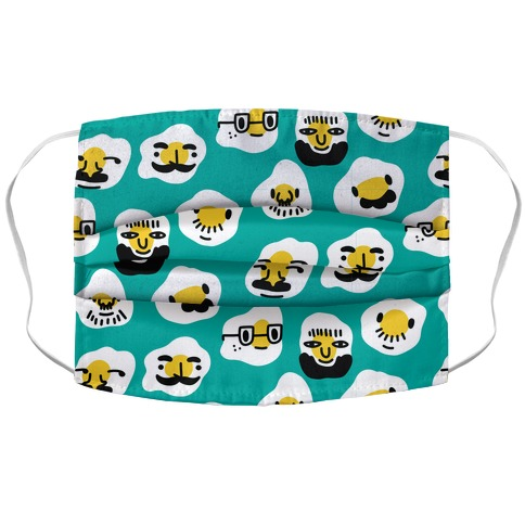 Egg Daddy Pattern Accordion Face Mask