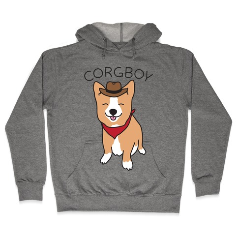 Corgboy Cowboy Corgi Hooded Sweatshirt