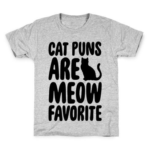 Cat Puns Are Meow Favorite Kids T-Shirt