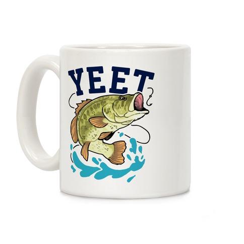 Yeet Bass Fishing Coffee Mug