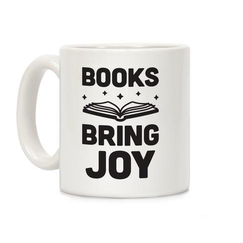 Books Bring Joy Coffee Mug
