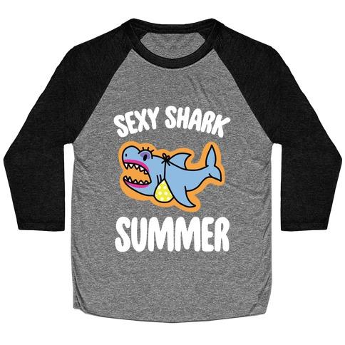 Sexy Shark Summer Baseball Tee