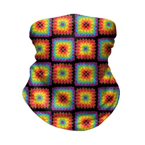 Granny Squares Pattern (Gay Pride) Neck Gaiter