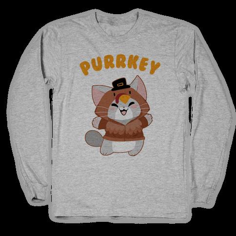 Purrkey Long Sleeve T-Shirt