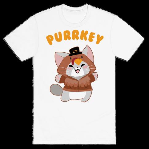 Purrkey Mens T-Shirt