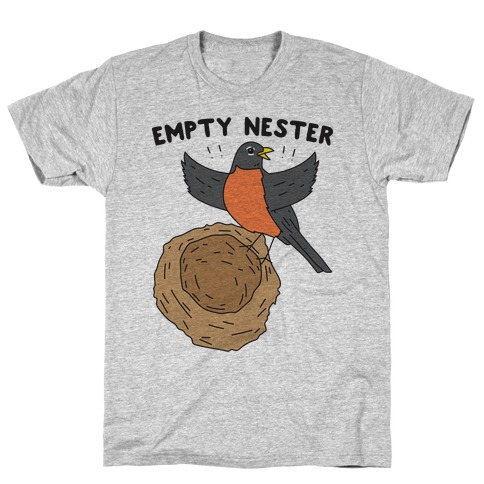 Empty Nester Happy Robin Mens T-Shirt