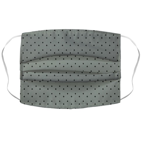 Dainty Stars Pattern Grey Accordion Face Mask
