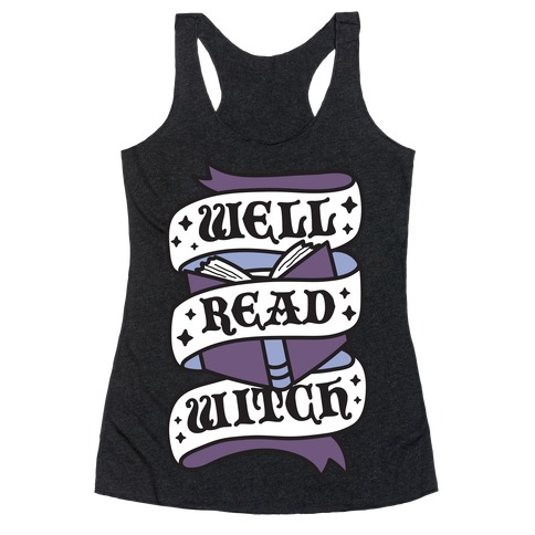 Well Read Witch Racerback Tank Top