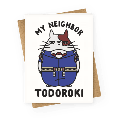 My Neighbor Todoroki Greeting Card