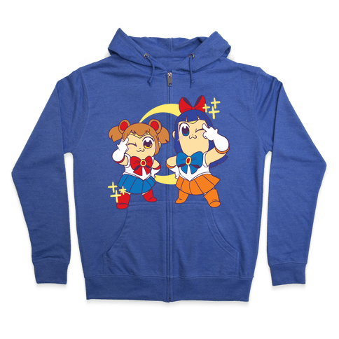 Pretty Sailor Pop Team Epic  Zip Hoodie