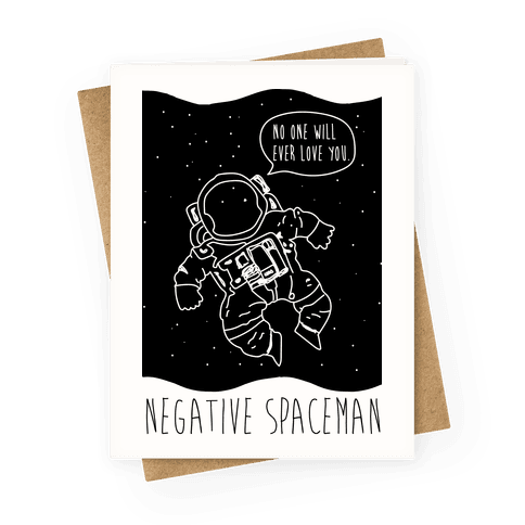 Negative Space 2 Greeting Card