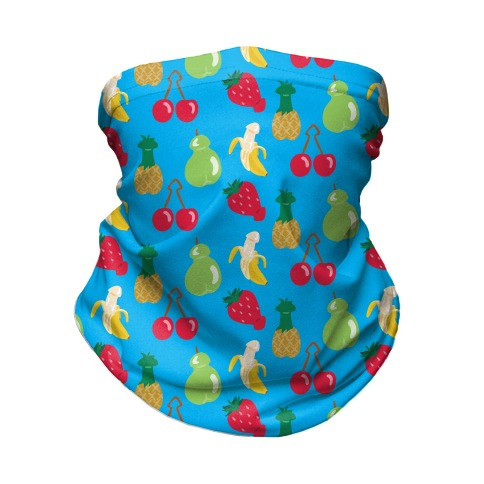 Phallic Fruit Pattern Neck Gaiter