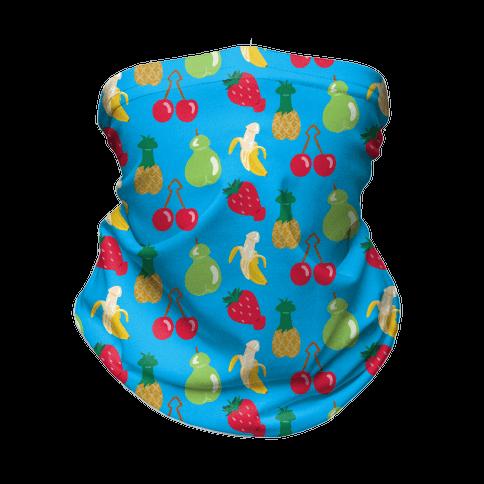 Phallic Fruit Pattern Neck Gaiter