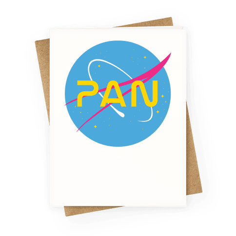 Pan Nasa Greeting Card