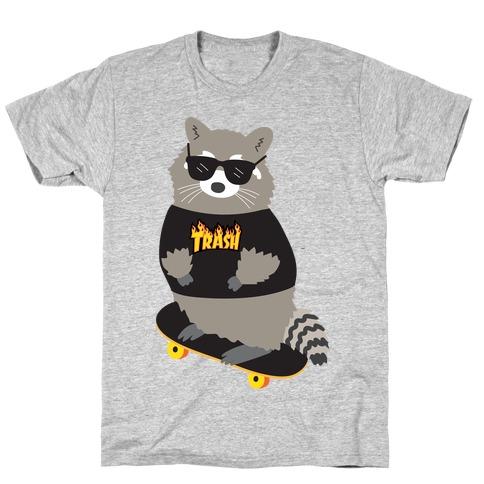Skate Trash Raccoon Parody T-Shirt