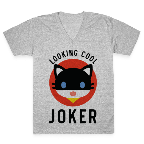 Looking Cool Joker V-Neck Tee Shirt
