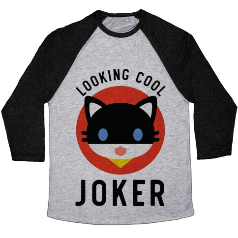 Looking Cool Joker Baseball Tee