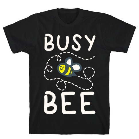 Busy Bee White Print T-Shirt