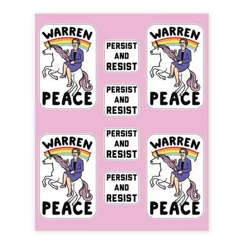 Magical Elizabeth Warren Sticker Sheet Sticker and Decal Sheet