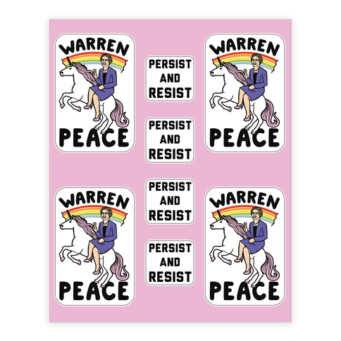 Magical Elizabeth Warren Sticker Sheet  Sticker/Decal Sheet