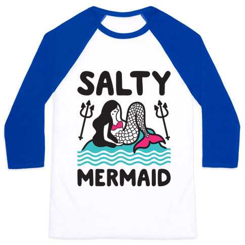 Salty Mermaid Baseball Tee