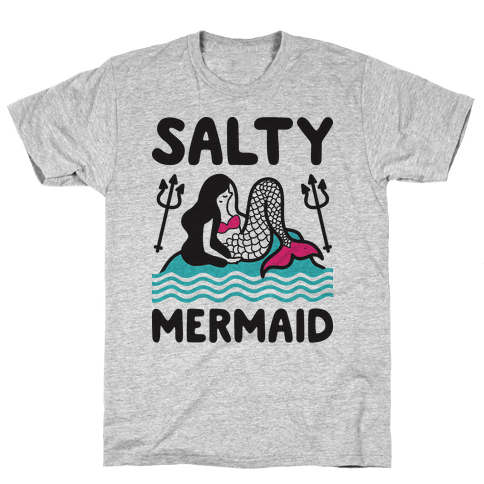Salty Mermaid Mens T-Shirt