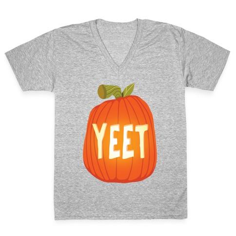 Yeet Pumpkin V-Neck Tee Shirt