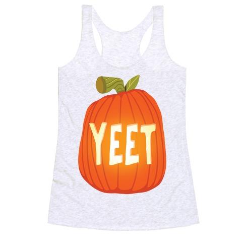 Yeet Pumpkin Racerback Tank Top