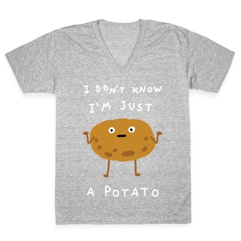 I Don't Know I'm Just A Potato V-Neck Tee Shirt