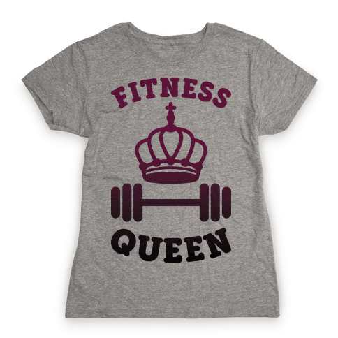 Fitness Queen  Womens T-Shirt