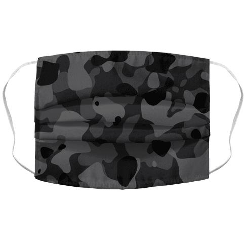subtle black camo Face Mask Cover