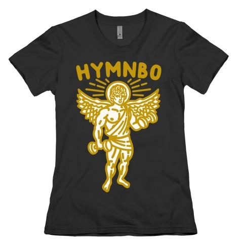 Hymnbo Angel Parody White Print Womens T-Shirt